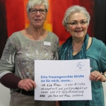 Doris Fritz und Helena Maryniok kfd Frauen aus Duisburg  Katholische Akademie