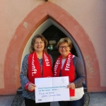 Marianne Flottmeier und Annette Wagemeyer, Erbacher Hof während der kfd Herbstwerkstatt