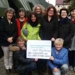 Mitarbeiterinnen von IN VIA Deutschland e.V.  Vor der Bundeszentrale, Freiburg