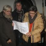 Klaudia Hofmann, Birgit Brender, Hanna Lobitz -Pfarrkirche St. Georg (Tür zur Sakristei), Korschenbroich-Liedberg